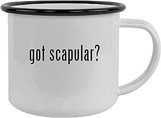 got scapular? - Sturdy 12oz Stainless Steel Camping Mug, Black