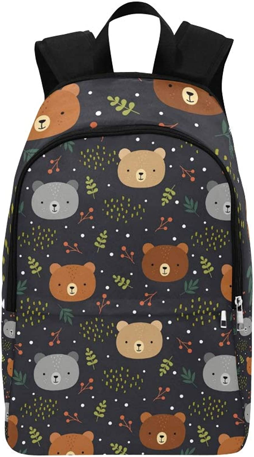 Cute Teddy Bears Casual Daypack Travel Bag College School Backpack for Mens and Women