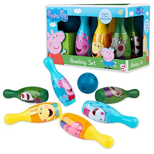 Peppa Pig Bowling Set, 6 Pins and 1 Ball Bowling Set Kids, Toys for Boys,...