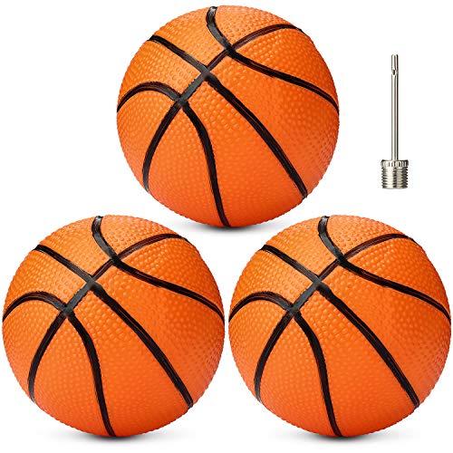 Gejoy 3 Packungen Mini Aufblasbare Basketbälle 7 Zoll Kunststoff Ersatz Basketbälle Mini Spielzeug für Jugendliche Erwachsene Indoor/ Outdoor Sport Strand Pool Spiel Party Bedarf