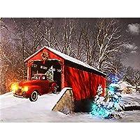 5DDIYダイヤモンドペインティングクリスマススノーレッドカーフルドリルダイヤモンド刺繍クロスステッチモザイククラフトキット家の装飾ギフト