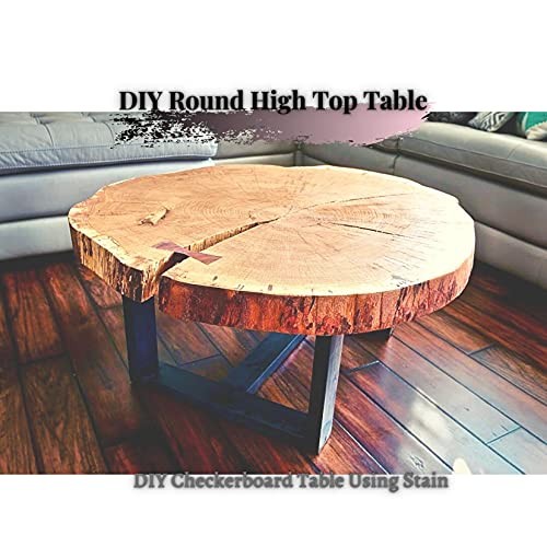 DIY Round High Top Table: DIY Checkerboard Table Using Stain (English Edition)