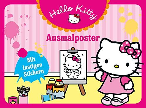Hello Kitty: Ausmalposter: Mit lustigen Stickern