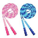 MoKo (2 PZS Cuerda de Saltar, Cuerda Premium de Entrenamiento Adjustable Sin Enredos Gimnasio de Entrenamiento para Hogar y Deportes al Aire Libre, Físico Ejércicio - Azul + Rosa