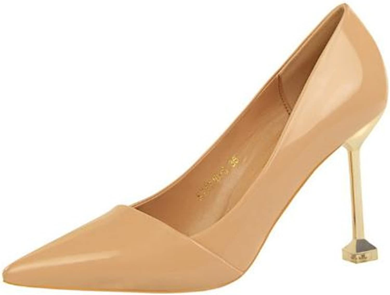 Coollight Women Come-Hither Pointed Toe Stilettos Pumps High Heels Party shoes Work shoes