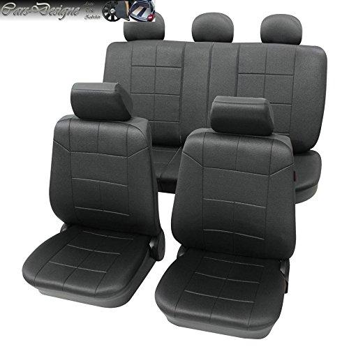 Eco D anthrazit 17tlg. Lederlook Sitzbezug Schonbezüge Schonbezug Autoschonbezug