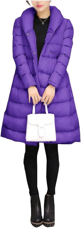 FieerWomen Warm Thickened Plus Size Winter PlusSize Bow Puffer Coat