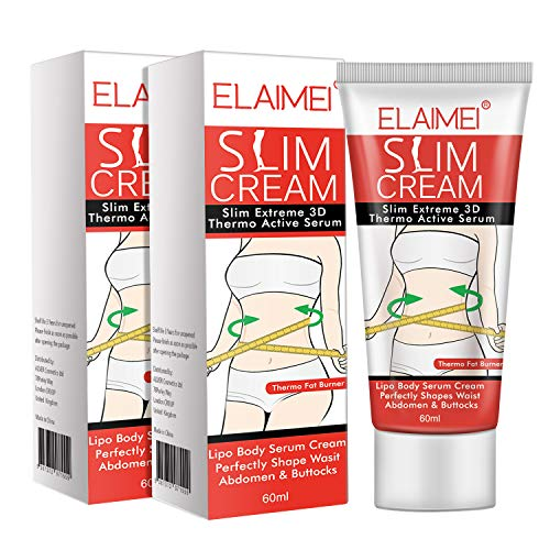 Hot Cream, Slim Cream, Cellulite Removal Firming Cream for Belly, Fat Burner - Thermogenic Weight Loss Break Down Fat Tissue, Perfectly Shape Thighs, Legs, Abdomen, Arms & Buttocks