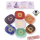 NatureWonders All Natural Chakra Stone Set with Information Car & Travel Pouch - Healing Crystals, Polished Palm Stone, Meditation, Reiki, Energy (010 - Small Chakra Stone Set (New Version))