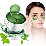 Under Eye Mask Camellia Sinensis(Green Tea) Vitamin E Anti-Aging Mask Treatment Pads for Puffy Eyes Bags Dark Circles and Wrinkles Gel Pads 30 Pairs