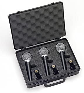 Samson R21 Dynamic Vocal Microphone – 3-Pack with Case