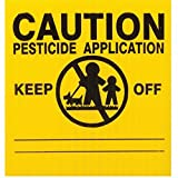 """25x GEMPLER'S MA5X5PK Massachusetts Pesticide Application Signs – Durable Weatherproof Outdoor Screen-Printed Corrugated Plastic Legend Board Plus 16"""" Bendable PVC Stakes – USA Made"""