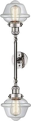 Innovations 208L-AB-G532-LED 2 Vertical Bath Vanity Light Antique Brass