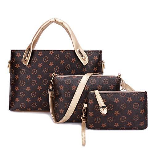 WYYF dames PU-leer Tote portemonnee en handtassen set schouder crossbody tas 3 stuks clutch wallets voor dames