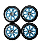 FREEDARE Scooter Wheels with Bearings Scooter Replacement Wheels 100mm 4PCS(Blue&Black)