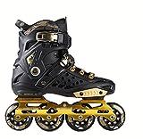 DSFGHE Patins à roulettes en Ligne Tyrant Gold Adult Skates pour Hommes Et Femmes Adulte Roller,Black-43