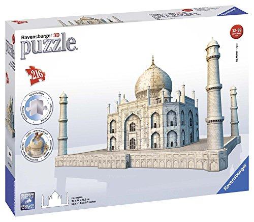 Ravensburger - 12564 - Puzzle 3D Building - 216 Pièces - Taj Mahal
