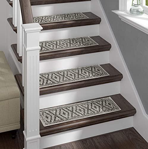 Sofia Rugs Shaggy Stair Treads - Dark Diamond Aura...