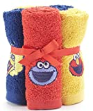Sesame Street 6-Pack Washcloth Set Elmo, Big Bird and Cookie Monster