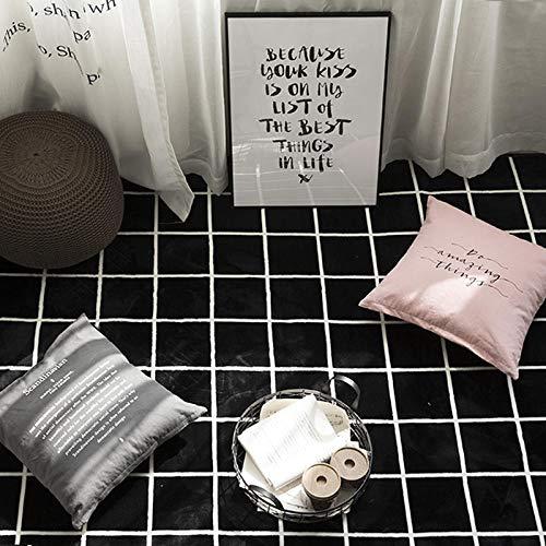 GangKun Zwart en wit, geometrisch, nordic, eenvoudig, modern, IKEA, woonkamer, bank, salontafel, tapijt, slaapkamer, nachtkastje, full shop, rechthoek