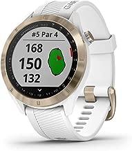 Garmin Approach S40, Stylish GPS Golf Smartwatch, Lightweight with Touchscreen Display, White/Light Gold