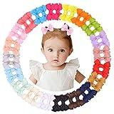 40 pinzas de pelo de 5 cm con forro completo de cocodrilo, cinta de grogrén, accesorio para bebés, bebés y niños en pares