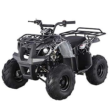 X-PRO 125cc ATV Quad ATV Youth ATV 4 Wheeler 125 ATV Quads,Spider Black