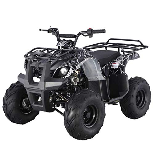 X-PRO 125cc ATV Quad Kids ATV Youth ATV 4 Wheeler 125 ATV Quads,Spider Black