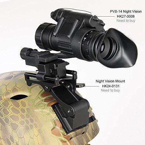 Digitales Nachtsichtgerät, Infrarot-Nachtsichtgerät, Nachtsichtbrille Befestigung für PVS-14 Goggle IR Night Vision Monocular PVS14+Rhino Mount