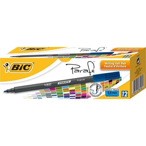 BIC VISA parafe 881PTE Moy. Escritura Bolígrafos caja de 12azul