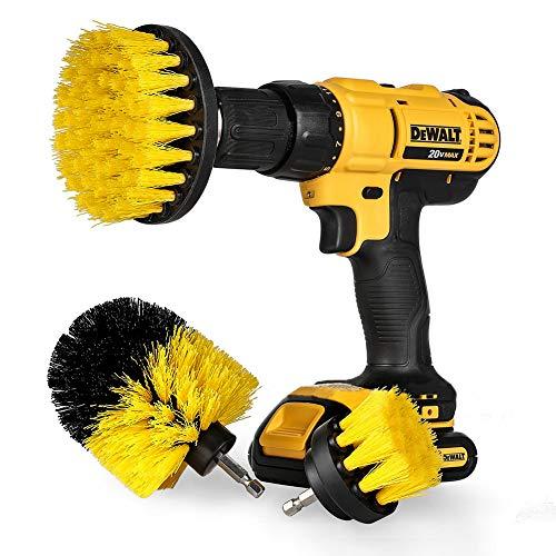"""Swonuk Drill Brush, 3pcs bohrmaschine bürstenaufsatz 2"""" 3"""" 4"""" Power Scrubbing Auto Bürste für Auto, Teppich, Badezimmer, Holzboden, Waschküche,Küche"""