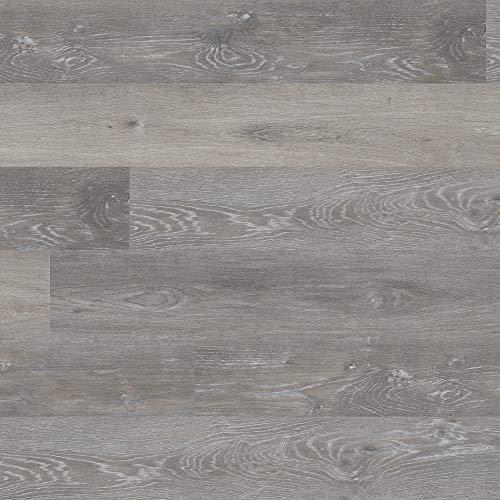 M S International AMZ-LVT-0073 7 inch x 48 inch Luxury Vinyl, Rigid Core Planks, Tile, Click Lock Floating Floor, Waterproof LVT McKenna, CASE, Rushmore Gray, 23 Square Feet
