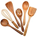 Wooden Utensils for Kitchen,6 Pack Wooden Spoons for Cooking...