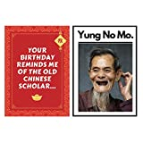 Funny Old Man or Woman Joke Happy Birthday Greeting Card – Great Happy Bday Gift for Aging Men and Women | 30th 40th 50th 60th 70th - Comes w/envelope and seal - YUNG NO MO