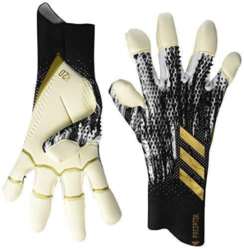 adidas unisex-adult Predator 20 Pro Goalkeeper Gloves Black/White/Gold 11