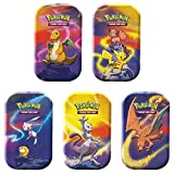 Pokemon Kanto Power Mini Tin 5 Pack Bundle- All 5 Characters Included | Pikachu, Charizard, Mewtwo