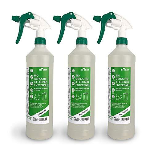 Bio-Chem Bio Urin Attacke Geruchs- und Fleckenentferner SPARPACK 3000 ml Geruchsneutralisierer, Geruchsvernichter, Katzen-Geruchsentferner, Hundeurin und Katzenurin Entferner, Urin-Reiniger