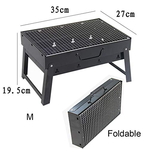 51zHFaZKHdL. SL500  - Grills Kochplatten Holzkohlegrill im Freien beweglichen Faltbarer Barbecue Gratis Maschendraht Grillzubehör (Size : M)