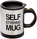 Bluw 1325.7726.71 Self Stirring Mug, Acero Inoxidable, Negro