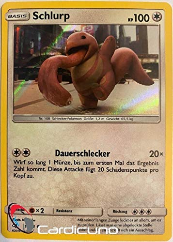 Schlurp 16/18 Holo Pokémon Meisterdetektiv Pikachu Sammelkarte - Deutsch - Cardicuno