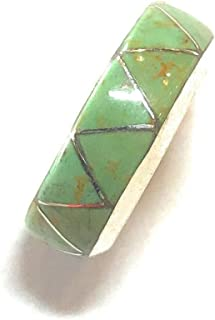 Navajo Inlay Kingman Turquoise Sterling Silver Ring