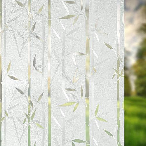Frost Window Film Privacy Glass Stickers Autoadhesivo Sin pegamento Estático Decorativo Adhesivos para el hogar Cocina Oficina Anti-UV 45X200cm