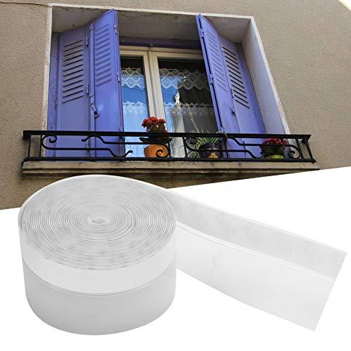Denkerm Transparenter Dichtungsstreifen, Selbstklebender Türdichtungsstreifen aus Silikonkautschukmaterial, transparent für Türen, Schränke(45mm)