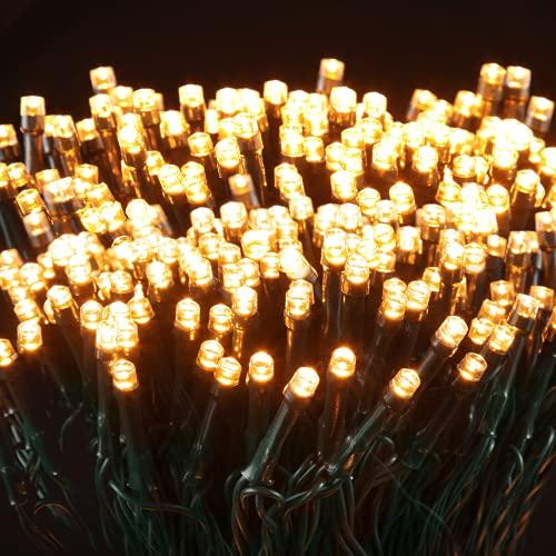 Luci Natale Esterno, Elktry 2000LEDs 50M Luci Natalizie da Esterno, Catena Luminosa Esterno Impermeabile con 8Modalità, Stringa Luci Natalizie Led Decorative per Albero/Natale/Giardino/Interno/Festa
