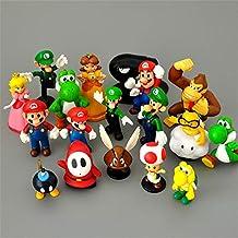 Super Mario Peluches 19pcs/Lote Super Mario Bros Figuras Yoshi Peach Princesa Luigi Shy Guy Odyssey Donkey Kong Modelo De Dibujos Animados Figura De Acción Niños Juguetes