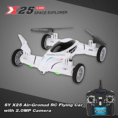 Benkeg Drohne Originalkamera SY X25 2.4G 4CH 6 Achsen Gyro Air-Gronud RC Fliegendes Auto mit 2.0MP 360 Grad Kamera Flip Auto Return Funktion