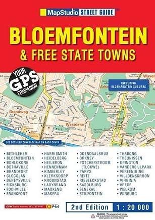 Bloemfontein & Free State towns street guide GPS ms