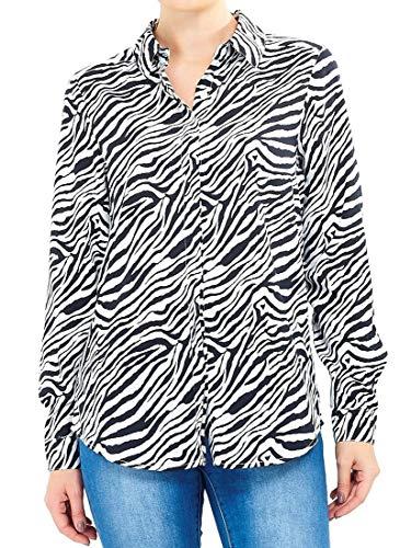 SS7 Womens Shirt Zwart Wit Blouse Zebra Print