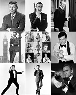 James Bond 007 24x30 Poster Collage 9 great scenes all 8 Bond's in one poster! Sean Connery Roger Moore George Lazenby David Niven Timothy Dalton Daniel Craig Pierce Brosnan Barry Nelson
