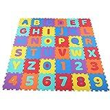Ejoyous Tappetino da Gioco,Tappetino da Gioco Puzzle, con Numeri Alfabetici 36 Pezzi 30 x 30 x 1 cm, Tappetino da Gioco per Bambini, Tappetino da Gioco con Numeri dell'alfabeto